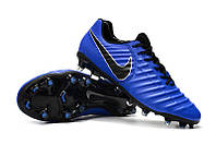 Футбольные бутсы Nike Tiempo Legend VII Elite FG Racer Blue/Black/Metallic Silver