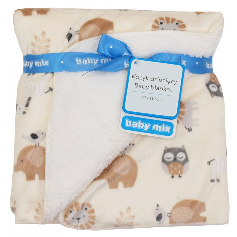Плед Baby Mix SH-JB1747718N 80x110 Сафари beige