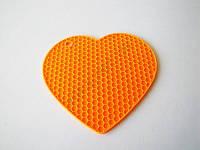Подставка силиконовая под горячее Сердце 18 см