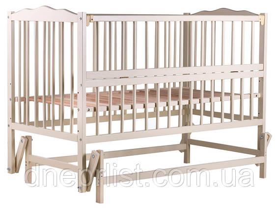 Кровать Babyroom Веселка маятник, откидной бок DVMO-2  бук слоновая кость, фото 2