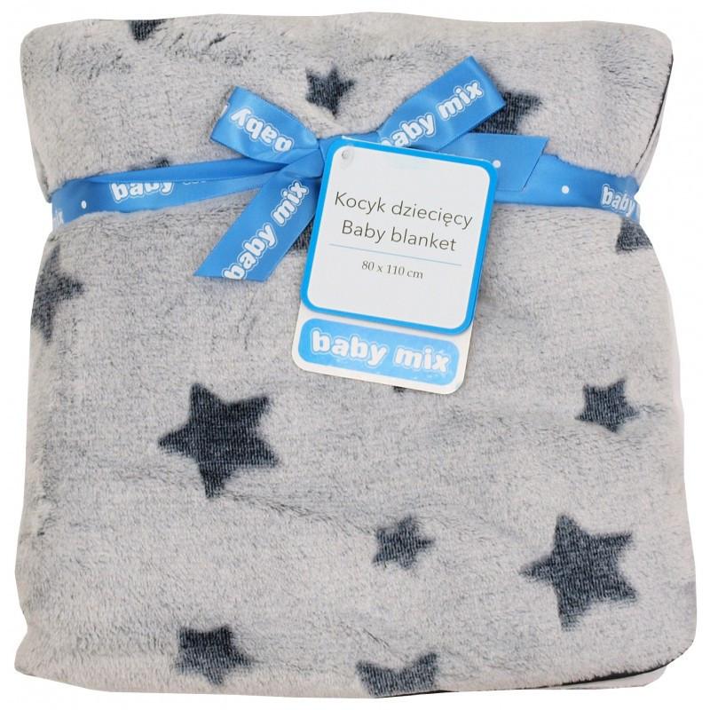 Плед Baby Mix SH-SR01 80x110 Звездочки grey