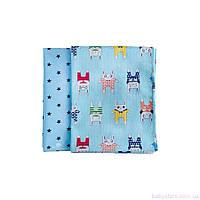 Стандартные пеленки для новорожденных - Набор из 2 (двух) сатиновых пеленок 80*100
