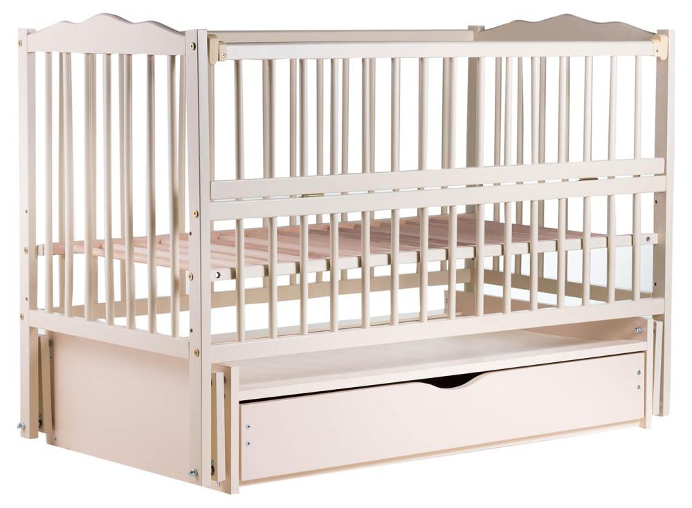 Ліжко Babyroom Веселка маятник, ящик, відкидний пліч DVMYO-3 бук слонова кістка