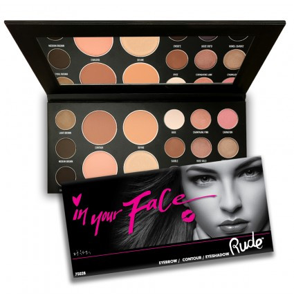 Палетка для лица RUDE In Your Face 3-in-1 Palette