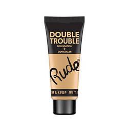 Тональная основа + консилер RUDE Double Trouble Foundation + Concealer Fair, Без ограничений, Женский, Тюбик, Rude