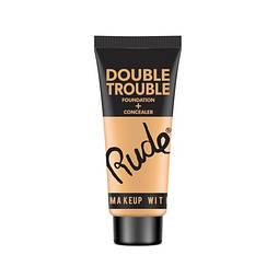 Тональная основа + консилер RUDE Double Trouble Foundation + Concealer Ivory, Без ограничений, Женский, Тюбик, Rude