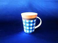 Чашка Синяя клетка керамическая 9*10,8 см