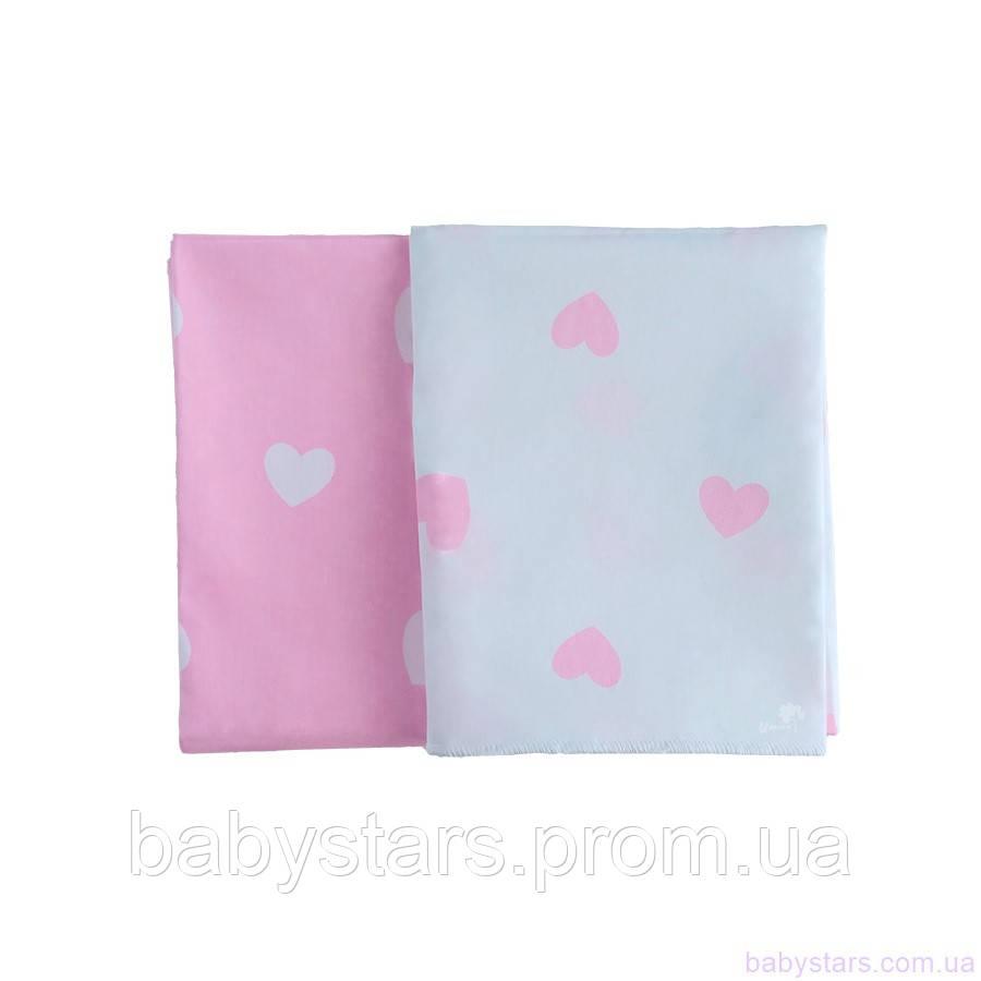 Пеленки хлопчатобумажные для новорожденны - Набор из 2 (двух) сатиновых пеленок 80*100