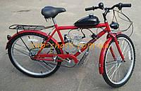 Велосипед (в сборе с двигателем)   Moto-bike mountain 28 Red   (50см3, 3Hp, дисковый тормоз, 6 скоростей, бак 1,5л)   KL