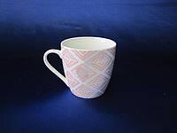 Чашка большая керамическая Розовая геометрия 500 мл