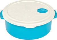 Пищевой контейнер White/Blue круглый 1.5л BAGER BG-419 B