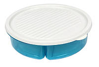 Емкость для хранения White/Blue круглый 3*400мл пластик BAGER BG-393 B