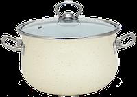 Кастрюля 6.5 л. 24 см INFINITY Cream 6367516
