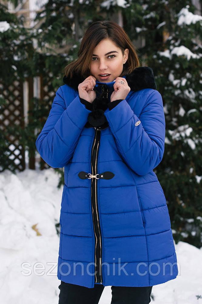 Зимнее женское пальто с мехом от производителя