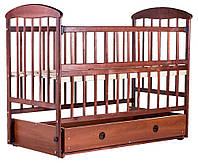 Кровать Наталка ОТМЯО маятник и ящик, откидной бок  ольха темная, фото 1