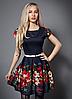 Молодежное платье с цветами 44-48 размер