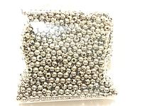 Бусина металлическая 3мм 45грамм цвет сталь