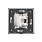 ТВ розетка Livolo білий скло (VL-C791V-11), фото 3