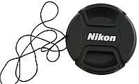 Dilux - Nikon крышка для объектива, диаметр - 52мм, со шнурком, фото 1