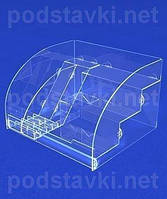 Торговый диспенсер Полочный дисплей под зубные пасты и щетки, акрил 3, габариты (ШхВхГ) 275х185х260 мм (PR-65)