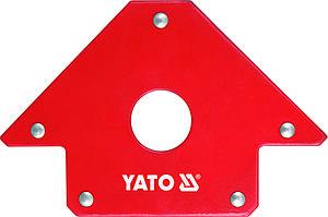 Струбцина магнитная для сварки 22,5 кг, 102х150х17 мм, D - 18 мм - Yato