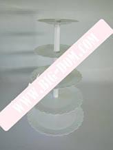 Стойка 5-ти эт.пластмассовая белая VT6-15294