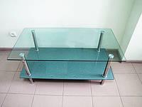Стол журнальный стеклянный столик с полочкой LF049 3806 110*60