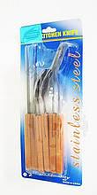 Набор на планшете: нож, вилка, ложка А 045