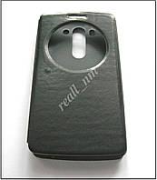 Черный чехол-книжка Air Case для смартфона LG G3 s (beats) D724 эко кожа PU, фото 1