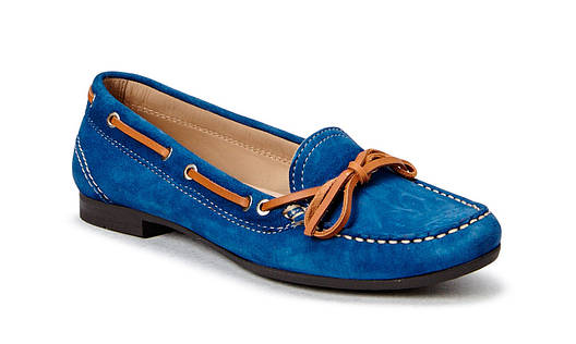 Мокасины ecco Tonder Mazarine Blue Suede Moccasin оригинал, фото 2