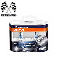 Галогеновые лампы Osram H4 Night Breaker Unlimited SET