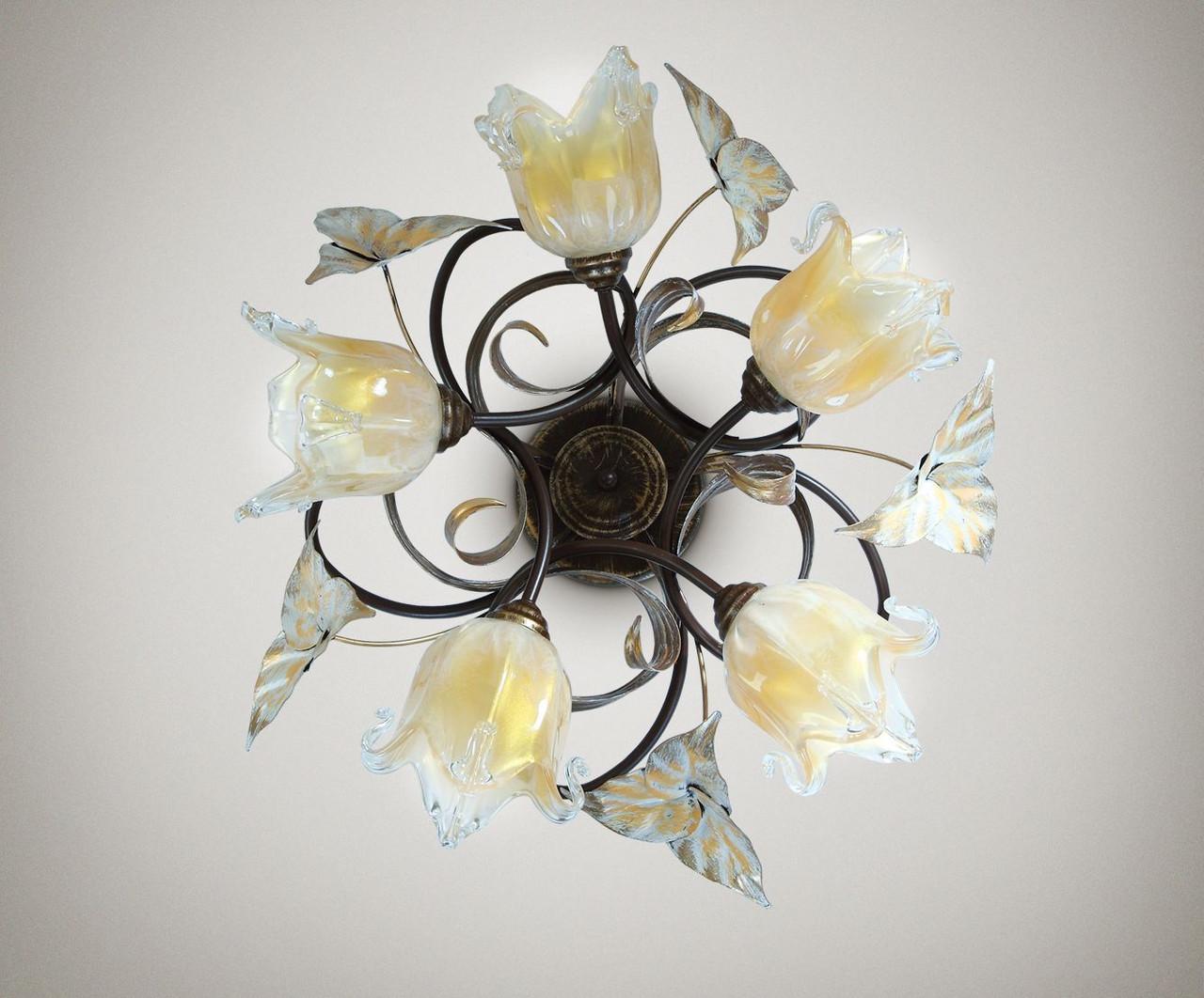 Люстра в стиле флористика 5-ти ламповая 17205-1