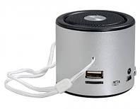Мини портативная MP3 колонка от USB FM WSA8 Silver