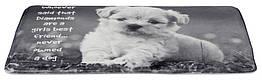 Коврик Trixie Baily с щенком, 60 × 40 см, серый, плюш, напонитель-пена