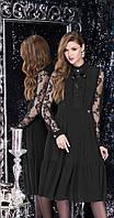 Платье LeNata-11891/1 белорусский трикотаж, черный, 44