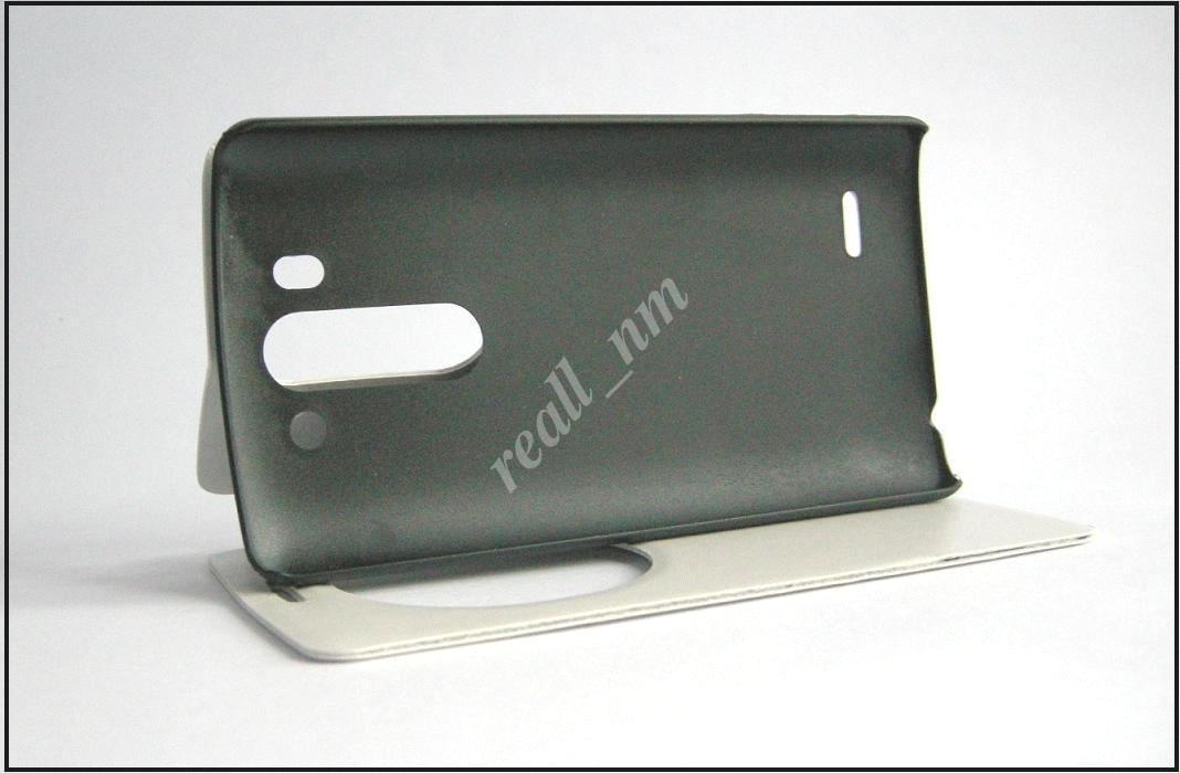 Белый чехол-книжка Air Case для смартфона LG G3 s (beats) D724