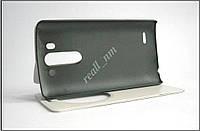 Белый чехол-книжка Air Case для смартфона LG G3 s (beats) D724, фото 1