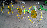 "Граблі-ворушилки ""Сонечко"" ГВН-4 (4-колеса; Україна), фото 1"