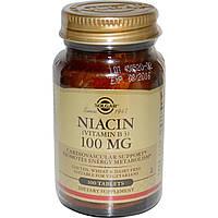 Витамин В3, Solgar, 100 мг, 100 таблеток