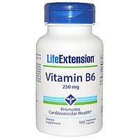 Вітамін В6, Life Extension, 250 мг, 100 капсул