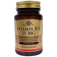 Вітамін В6, Solgar, 25 мг, 100 таблеток