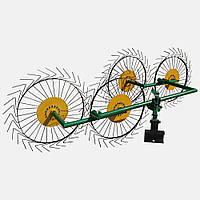 Грабли для мототрактора «Солнышко» ГВР-4 (грабли ворошилки 4-х колесные)