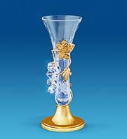 Хрустальная ваза с позолотой Виноград