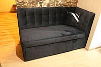 Угловой диванчик со спальным местом в маленькую кухню (Чёрный), фото 1