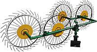 Грабли для мотоблока «Солнышко» ГВР-4 (грабли ворошилки 4-х колесные), фото 1