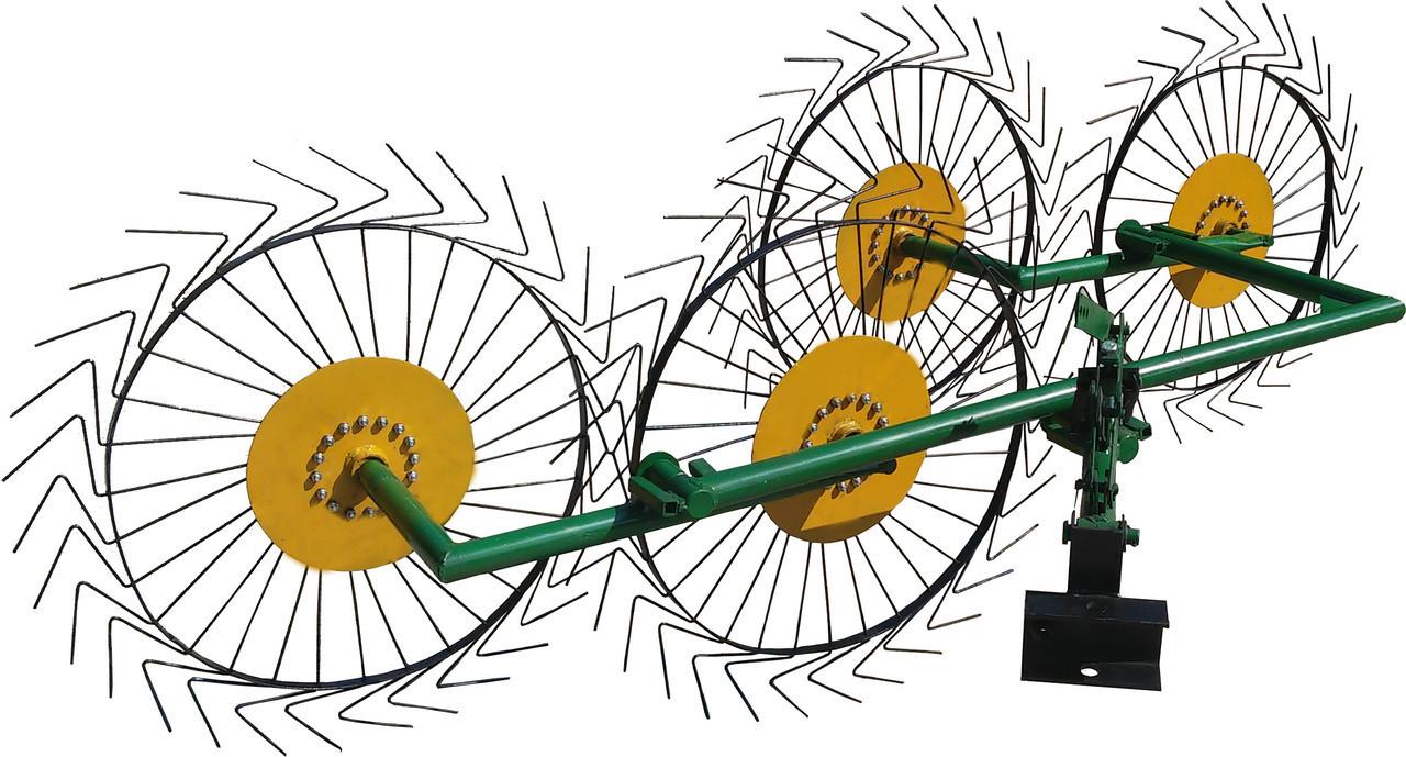 Грабли–ворошилки для мотоблока «Солнышко» (4-х колесные)