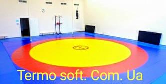Ковер борцовский трехцветный 10м * 10м.