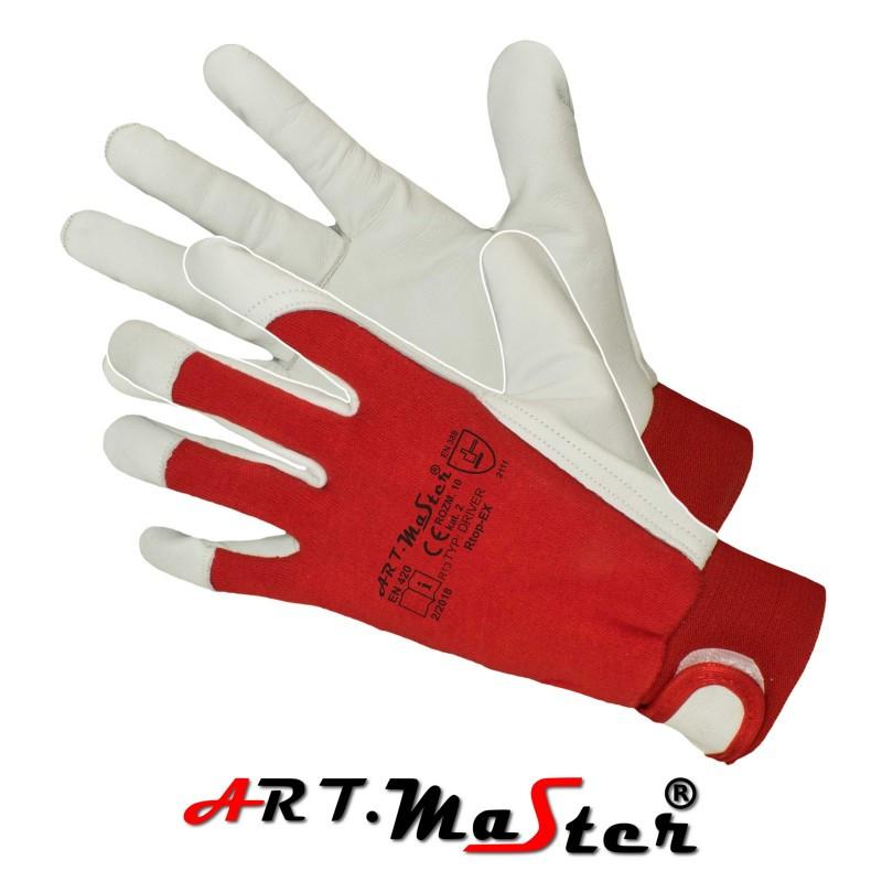 Перчатки кожаные комбинированые рабочие Польша Rtop-Ex