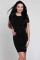 Красивое коктейльное черное платье