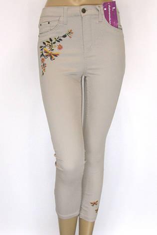 джинсы летние с вышивкой, фото 2